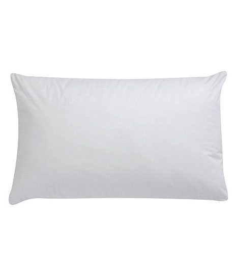 Filled with hollow fibre, These pillows have sufficient warmth- retaining power and flexibility. They are of good quality, easy to maintain and reasonably priced. Non-Allergenic, 100% Polyester and washable.
